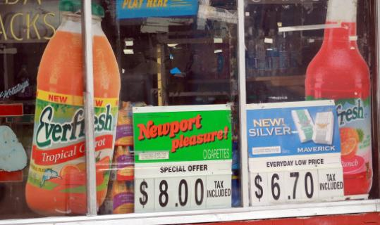advertising in convenience store windows