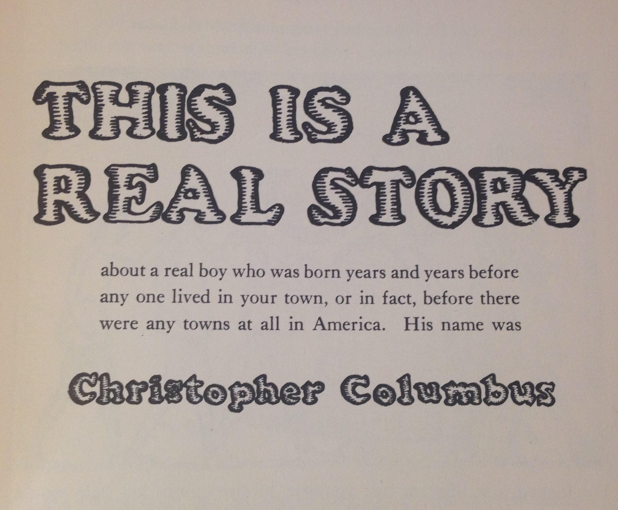 Christopher Columbus The Absurd Things Kids Used To Be