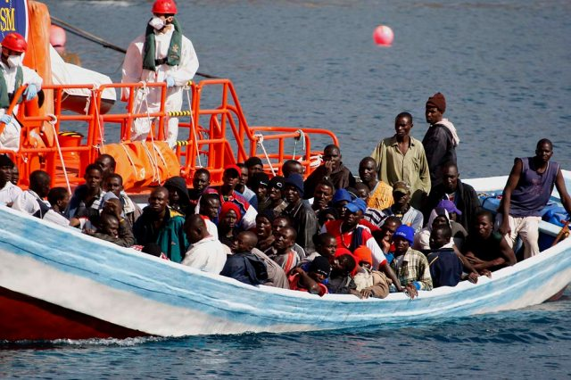 Image result for Pictures of Black African immigrants in ships