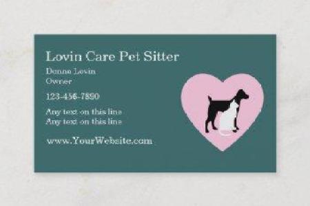Pet Sitter Business Cards - theminecraftserver.com - Best Resume ...