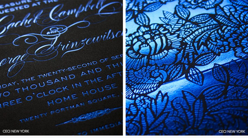 Luxury Wedding Invitations By Ceci New York Our Muse Bold Blue Be