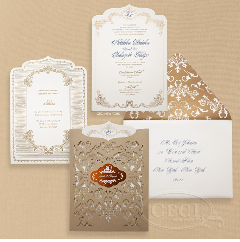 Luxury Wedding Invitations By Ceci New York Our Muse Bright Nigerian Be
