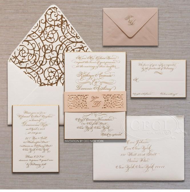 Custom New York City Skyline Wedding Invitations By Architette Studios