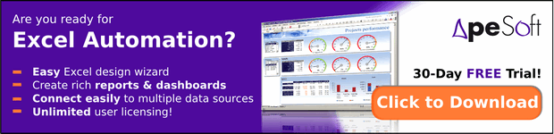 Are you ready for Excel Automation? - Get Free Trial of ApeSoft
