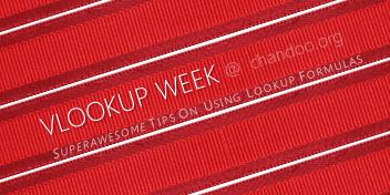 Announcing VLOOKUP Week @ Chandoo.org - Learn Tips & Tricks on Lookup Formulas