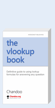 Excel Vlookup Book by Chandoo, ebook version