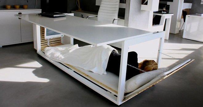 le bureau lit pour faire la sieste au