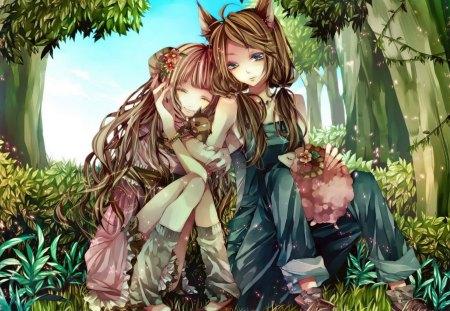 Wolf Girls Other Anime Background Wallpapers On Desktop Nexus Image 1164326