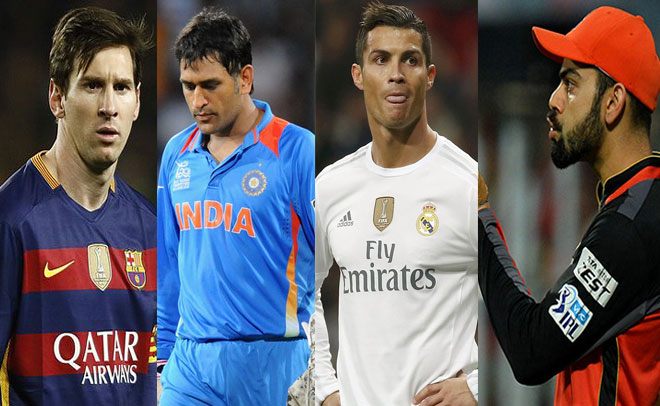 Image result for messi and dhoni