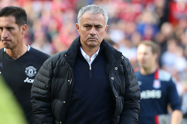 Image result for Manchester United could have put seven past Stoke – Mourinho