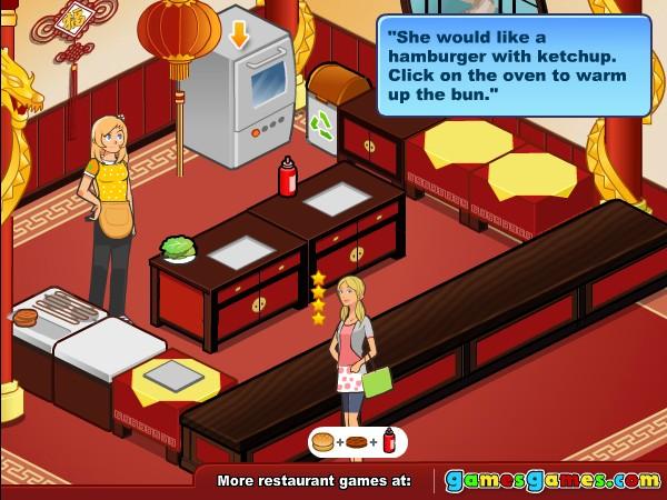 Play Free Online Serving Restaurant Games