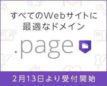 すべてのWebサイトに最適なドメイン .page