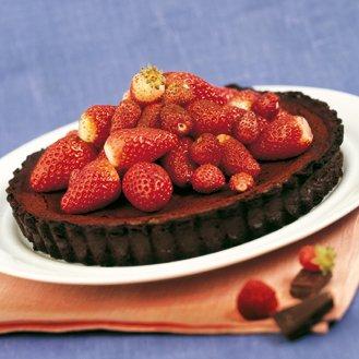 tarte chocolat aux fraises