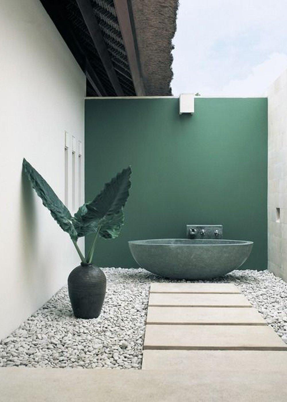 salle de bains de jardin pour l ete