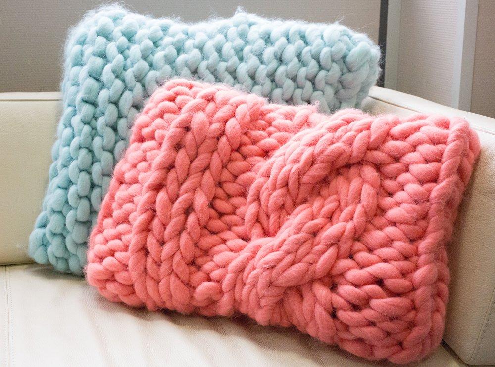 tutoriel coussin tricot