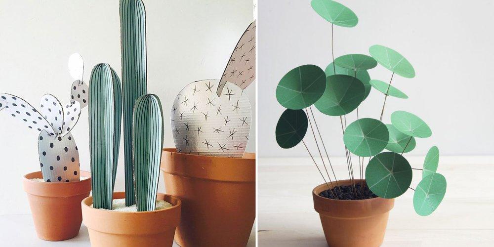 16 DIY Pour Raliser Des Plantes En Papier Marie Claire