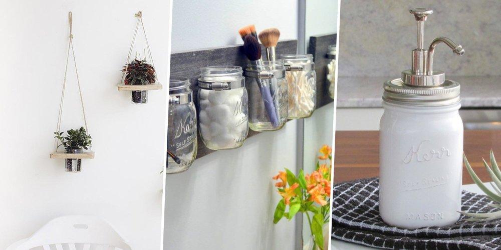 11 DIY Faire Avec Des Mason Jar Marie Claire