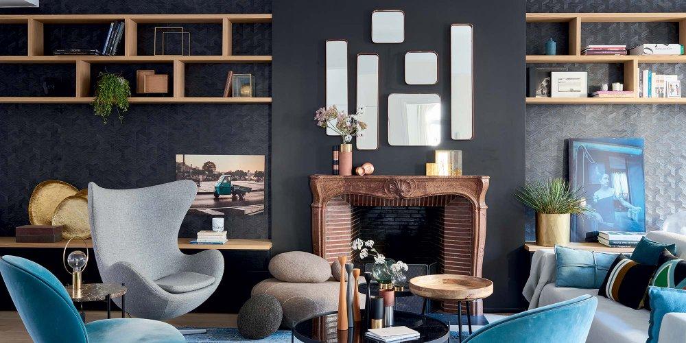 salons modernes qui mixent les styles