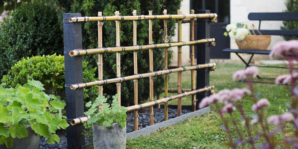 fabriquer une palissade en bambou pour