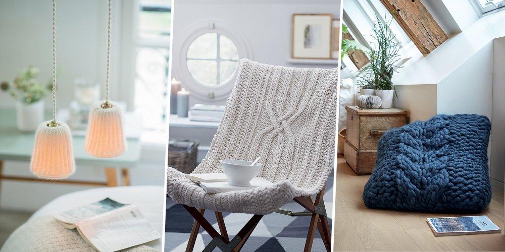 diy deco 25 idees qui reinventent le tricot par victoria marty comment tricoter pour decorer son interieur