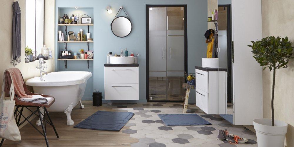 carrelage salle de bains modeles