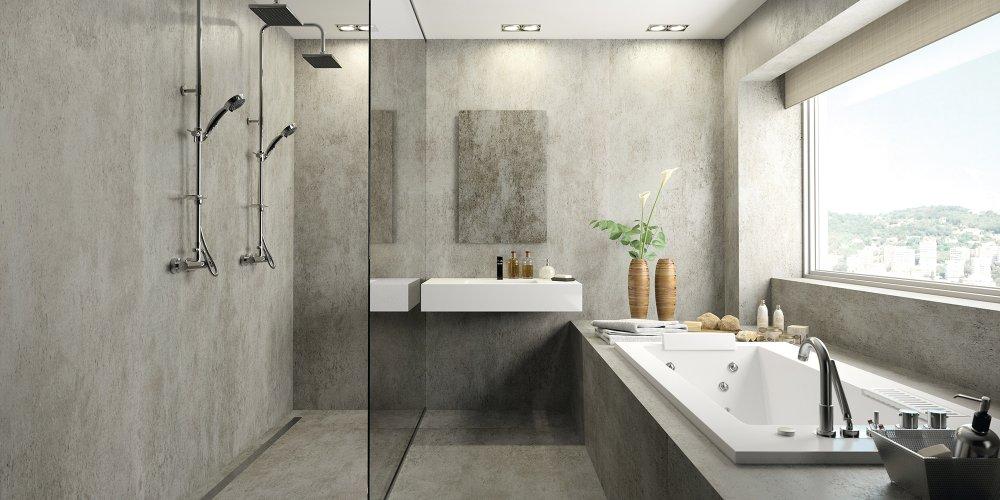 revetement sols et murs douche italienne cosentino