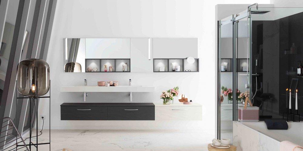 la salle de bains moderne associe belles matieres et formes epurees pour ne pas perturber notre bien etre elle annonce une decoration de salle de bains