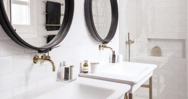 salle de bains blanche le total look