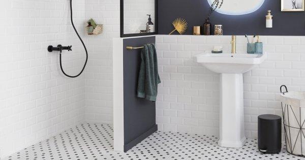 mur et sol pour une douche italienne