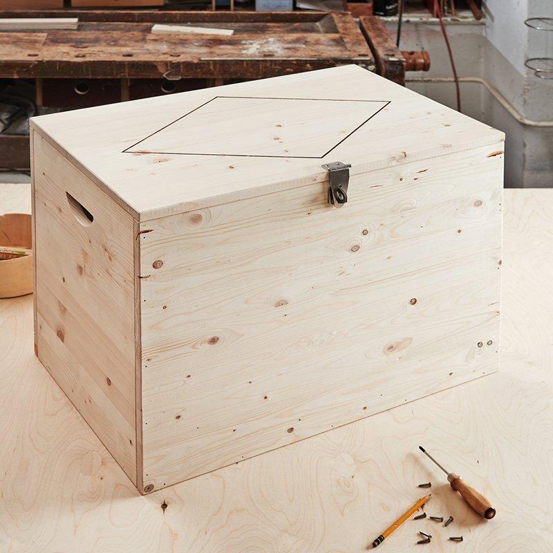 fabriquer un coffre en bois marie claire