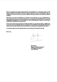 Lettre de Benoît Hamon aux parents d'élèves