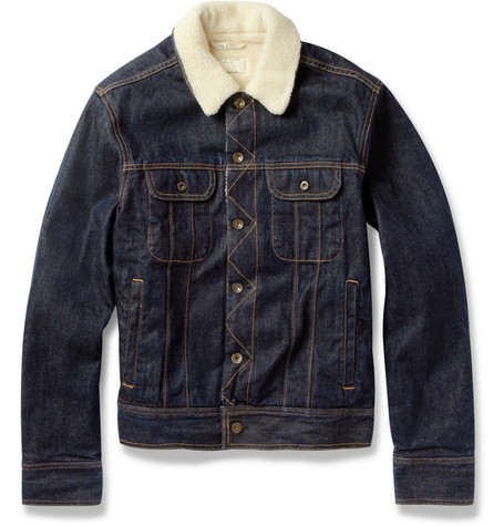 Rag & bone Faux Shearling-Lined Denim Jacket