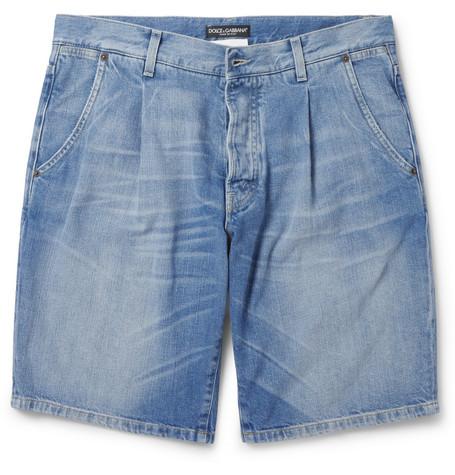Dolce & GabbanaRegular-Fit Washed-Denim Shorts