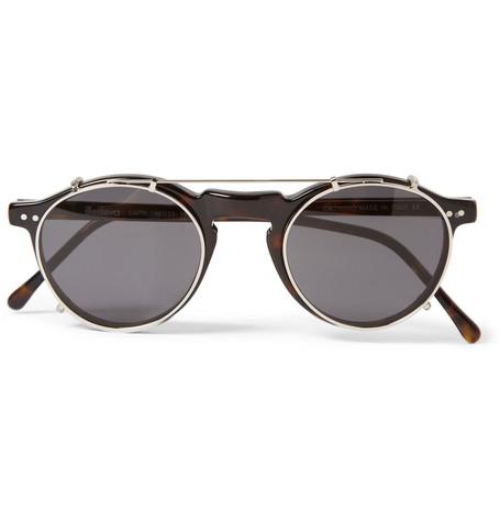 IllestevaCapri Detachable-Front Round-Framed Acetate Glasses