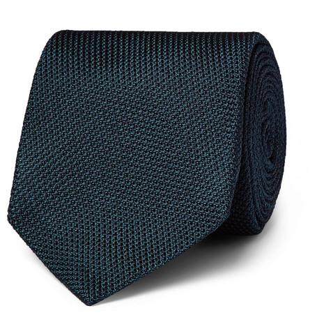 Drakes Kingsman Petrol Silk Grenadine tie