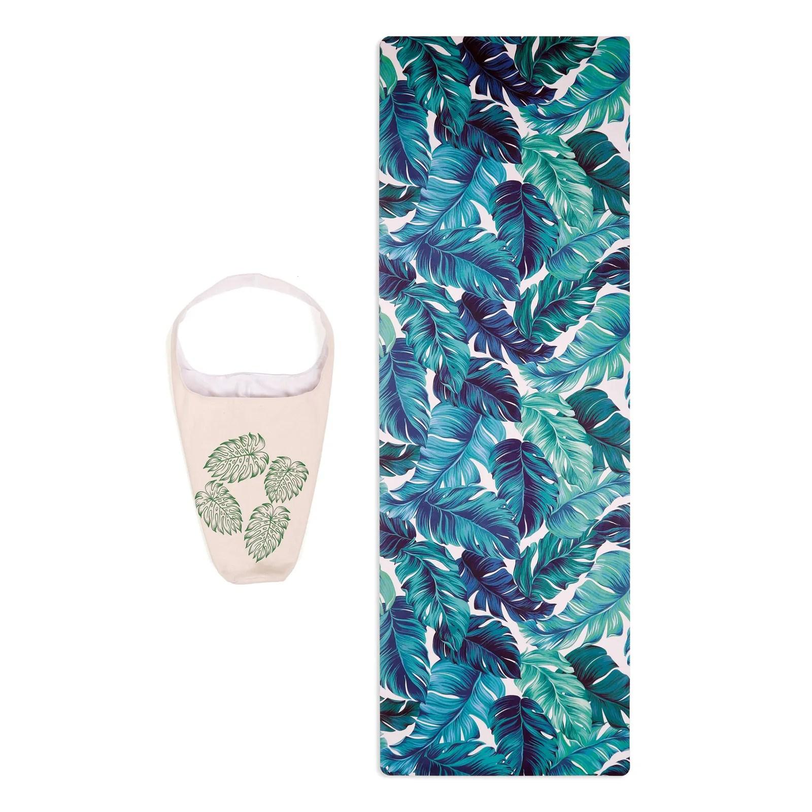 sac tapis de yoga tropical
