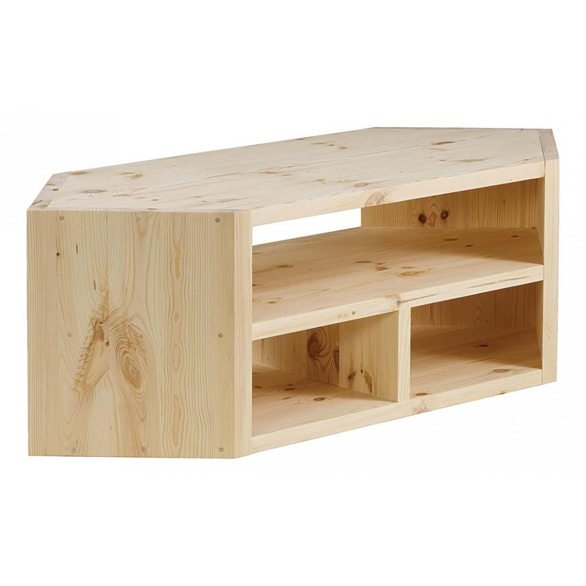 meuble tv d angle design pin massif bru