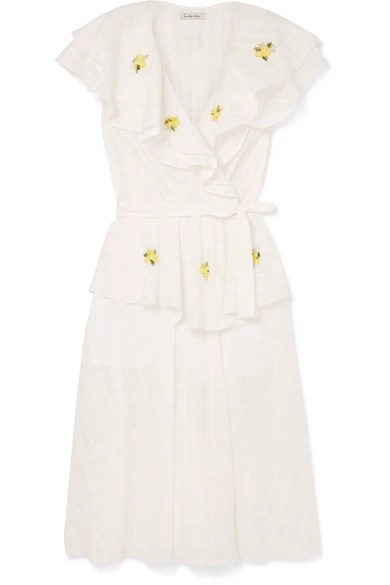 Embroidered Linen Jacquard Dress Innika Choo