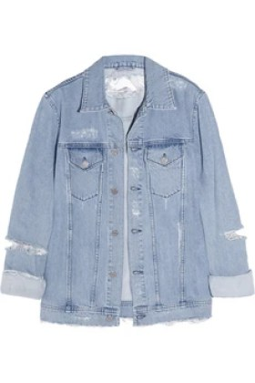 Acne Fever Trash distressed denim jacket £430