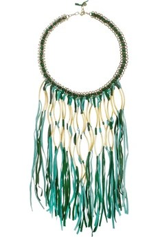 Antik Batik Elias tasseled suede necklace £120