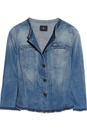 7 for all mankind Embellished stretch-denim jacket £405