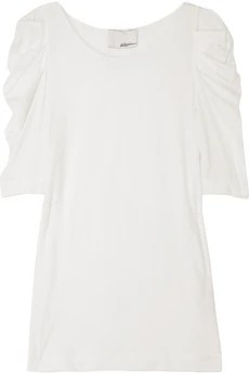 Zac Posen Ruched Sleeve T Shirt