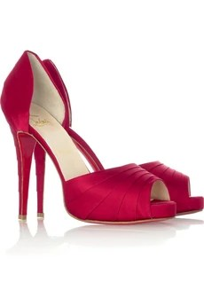Christian Louboutin Satin platform sandals £415