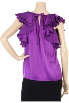 Rebecca TaylorRuffle sleeve top