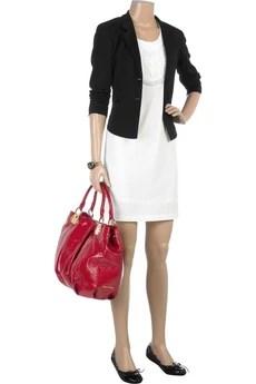 Miu MiuCrinkle patent shoulder bag
