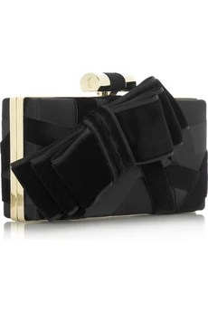 Yves Saint Laurent Satin ribbon clutch