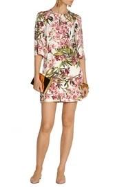 Dolce & GabbanaMini-robe en sergé à imprimé fleuri