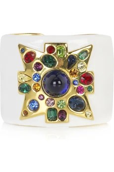 Kenneth Jay Lane Multicolored jeweled cuff