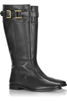 BurberryLeather knee-high boots