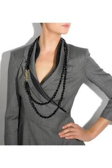 Yves Saint LaurentGlass bead necklace